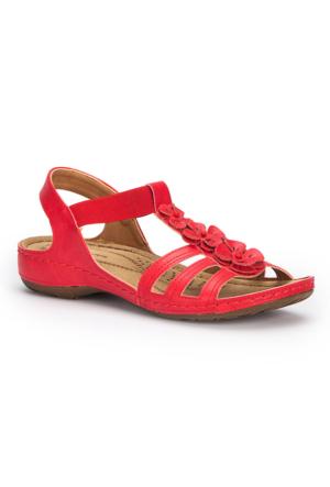 Polaris 71.157362.Z Kırmızı Kadın Sandalet