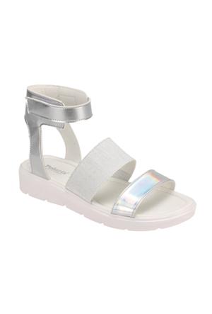Polaris 61.308618.Z Gümüş Kadın Sandalet