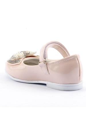 Sema 32 Günlük Abiye Cırtlı Kemerli Tokalı Kız Çocuk Babet Ayakkabı
