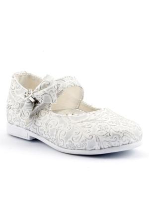 Sema 50 Günlük Abiye Cırtlı Kemerli Tokalı Kız Çocuk Babet Ayakkabı