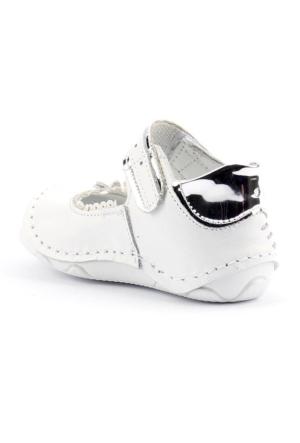 Teo 4500 %100 Deri Ortopedik Günlük Cırtlı Kız Çocuk Ayakkabı