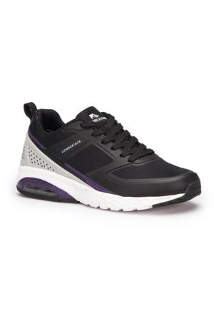 Lumberjack Tora Wmn Siyah Mor Gri Kadın Koşu Ayakkabısı