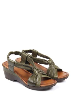 Gön Deri Kadın Sandalet 45218