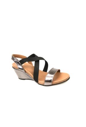 Ziya Kadın Hakiki Deri Sandalet 7176 2012 Bronz