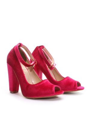 Shoes&Moda Bayan Topuklu Ayakkabı Fuşya
