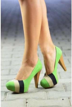 Peri Kızı Dory Topuklu Ayakkabı - Yeşil