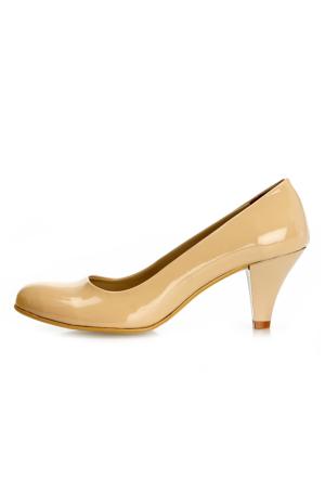 EsMODA Ma-006 Ten Rugan Klasik Kısa Topuklu Ayakkabı