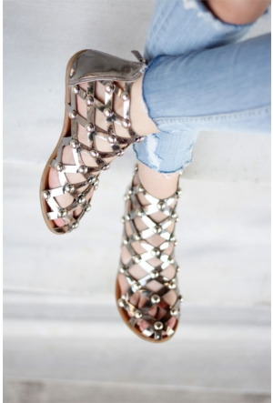 İnce Topuk Kadın Troklu Bilekten Sandalet 7Yaza0347630