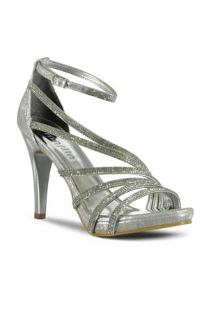 Marjin Riko Abiye Ayakkabı Gümüş