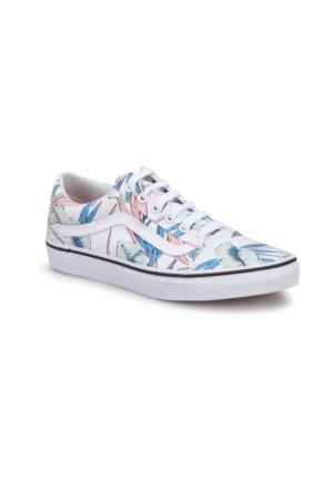 Vans Ua Old Skool Beyaz Mavi Kadın Sneaker Ayakkabı