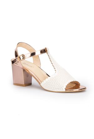Polaris 71.309864.Z Beyaz Kadın Sandalet