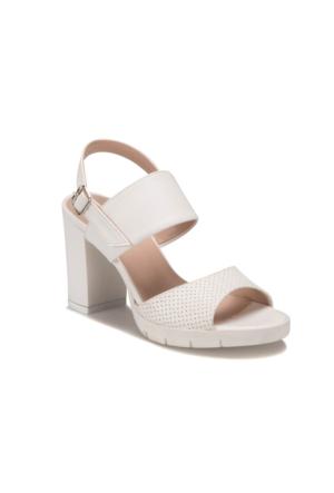 Miss F DS17071 Beyaz Kadın Sandalet