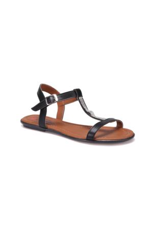 Carmens Art04 Siyah Kadın Sandalet