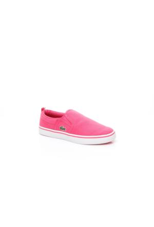 Lacoste Gazon Çocuk Pembe Slip On Ayakkabı 733Cac1005.124