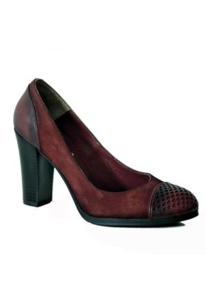 Teens 5825 Topuklu Kadın Ayakkabı Bordo