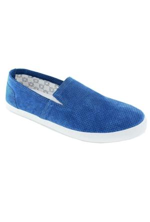 Footcap 8901 Süet Deri Erkek Ayakkabı Mavı