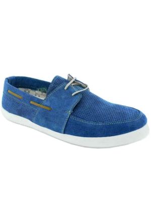 Footcap 8926 Süet Deri Erkek Ayakkabı Mavı