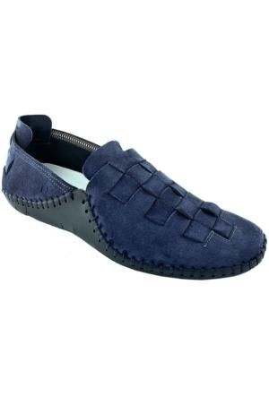 Footcap 902 Deri Erkek Ayakkabı Lacıvert