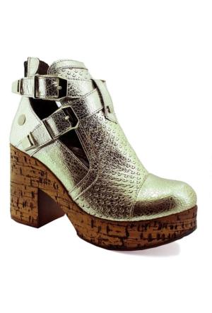 Mammamia D16Ya-3485 Deri Kadın Ayakkabı Dore