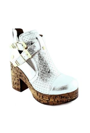 Mammamia D16Ya-3485 Deri Kadın Ayakkabı Lame