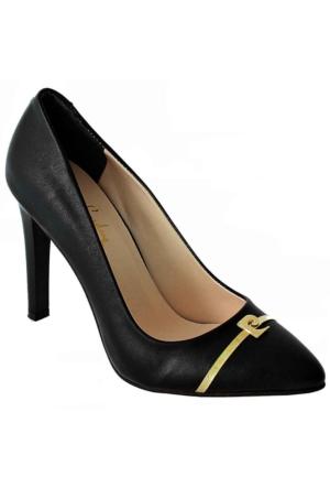 Pierre Cardin 45339 Sivri Burun Kadın Ayakkabı Siyah