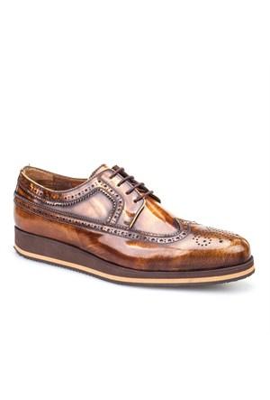 Cabani Oxford Günlük Erkek Ayakkabı Mavi Deri