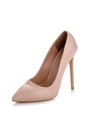 Sothe Zy-1976 Bej Bayan Stiletto Ayakkabı