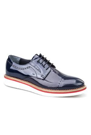 Cabani Oxford Günlük Erkek Ayakkabı Lacivert Rugan
