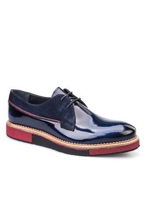 Cabani Oxford Günlük Erkek Ayakkabı Mavi Açma Deri