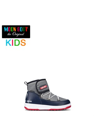 Moon Boot 34050900-003 Moon Boot W.E. Jr Strap Wp Grey-Navy-Red 2