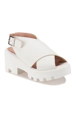 Polaris 61.308579.Z Beyaz Kadın Sandalet
