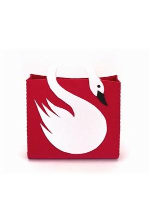 Orijinal Kulüp Swan Bag Kuğu Motifli Çanta (Kırmızı)