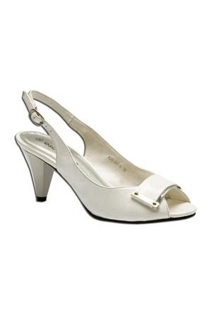 Escarpine Kadın Topuklu Ayakkabı Beyaz