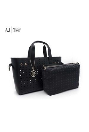 Armani Jeans Çanta C521dr512 Armani Women Bag Nero - Black