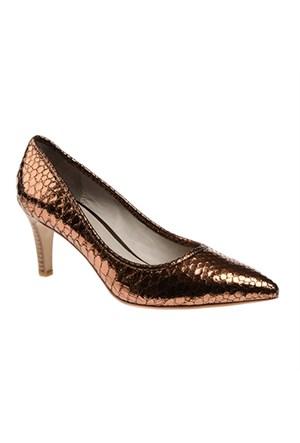 Pretty Nana Manolo Metallic Pitone 500140 Kadın Ayakkabı Bronzo
