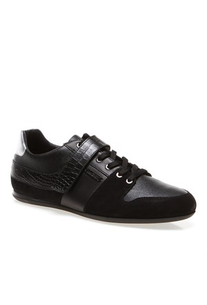 Bikkembergs Springer 156 L.Shoe M Bke107393 Erkek Ayakkabı Suede Leat Black