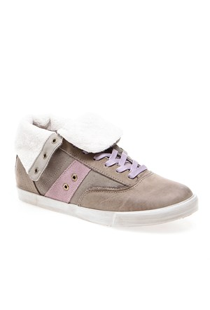 Timberlandek Glastenbury Sneaker Faux Fur Roll Top 8447A Kadın Bot Warm Grey
