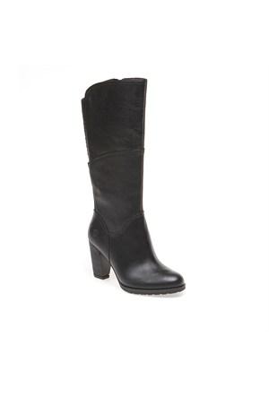 Timberlandek Stratham Heights Tall Zip Wp Boot 8610A Kadın Siyah Çizme