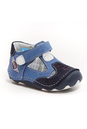 Sanbe Erkek Çocuk Hakiki Deri İlk Adım Ayakkabısı - 305 H 3013 Lacivert Mavi