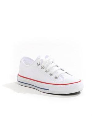 Sanbe Erkek Çocuk Keten Ayakkabı - 403 H 3703 Beyaz