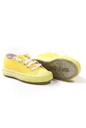 Sanbe Erkek Çocuk Işıklı Keten Ayakkabı - 402 H 3706 - Sarı