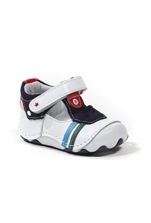 Sanbe Erkek Çocuk Hakiki Deri İlk Adım Ayakkabısı - 305 H 3507 Beyaz