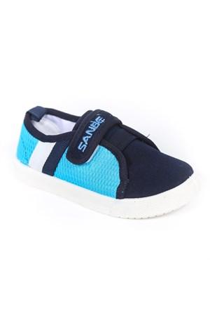 Sanbe Erkek Çocuk Keten Ayakkabı - 402H106-Mavi