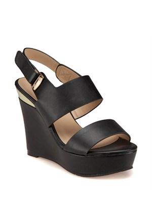 Miss F F18044 Siyah Kadın Sandalet