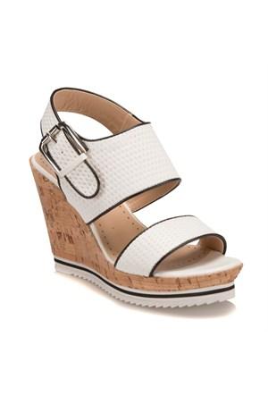 Miss F F18045 Beyaz Kadın Sandalet