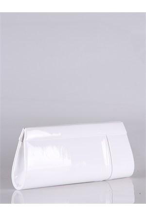 Simalore 8002-17 Rugan-Beyaz Abiye Çanta