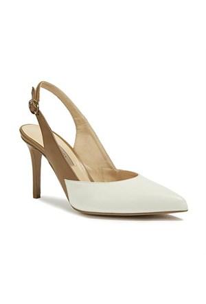 Desa Collection Karine Kadın Abiye Ayakkabı Taba Beyaz
