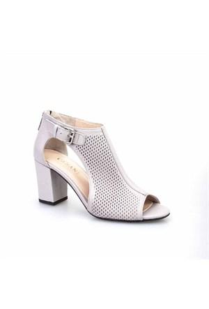 Cabani Kadın Ayakkabı Gri Kırma Deri