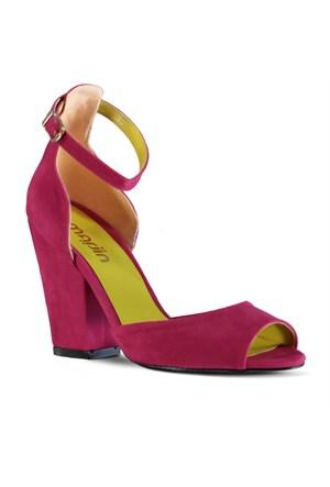 Marjin Malise Topuklu Ayakkabı Fuşya Süet