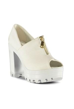 Marjin Tinto Topuklu Ayakkabı Beyaz